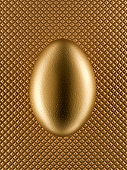 Close up of golden egg