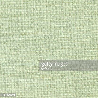 Close up of green burlap texture