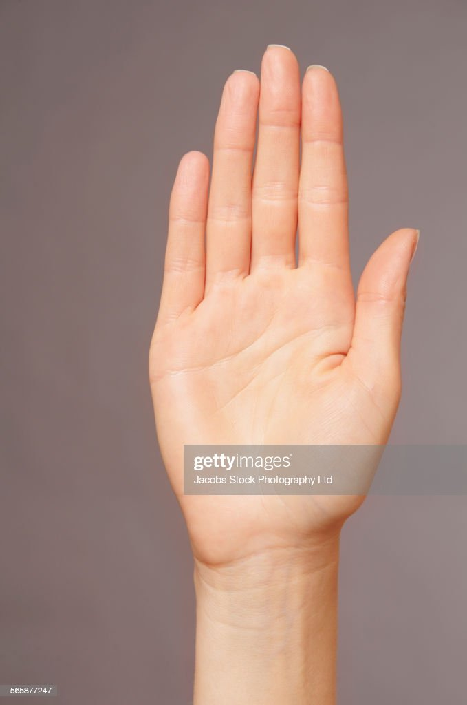 Close up of hand of Caucasian woman
