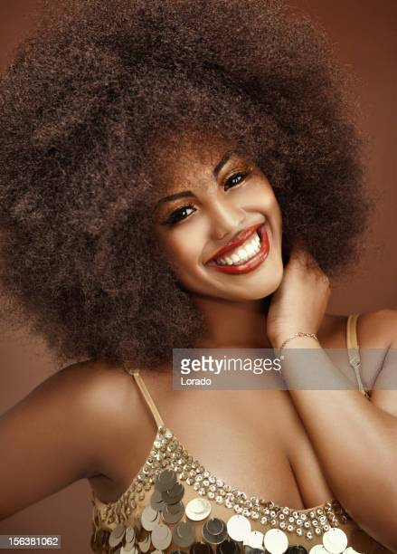 close up of happy black model