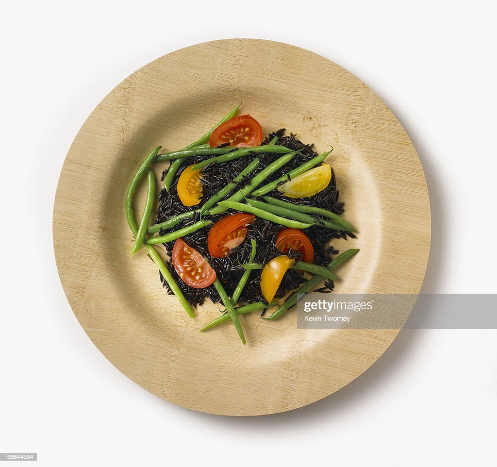 Close up of healthy rice salad : Stock Photo