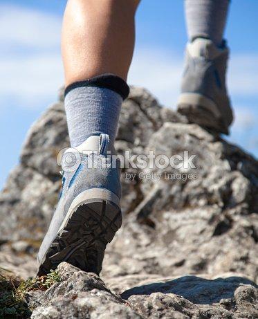 Close Up Of Hiking Boots Stock Photo Thinkstock