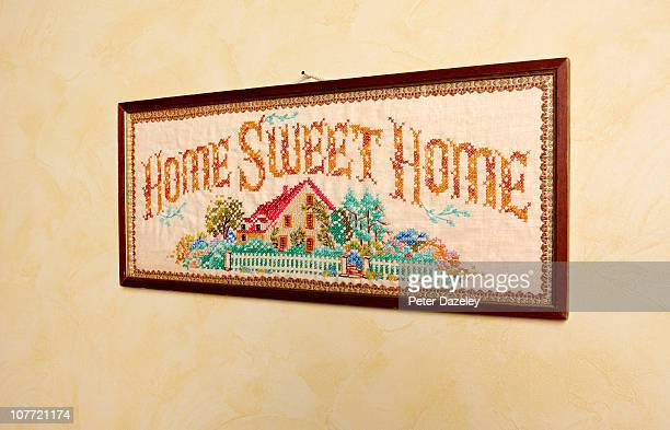 Close up of home sweet home picture