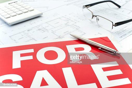 Close up of house plan blueprints