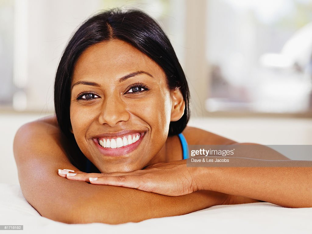 Close up of Indian woman smiling : Stock Photo