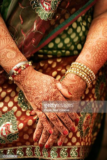 Mehndi Ceremony Caption : Wedding tattoo stock photos and pictures getty images