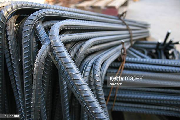 Close up of iron rods used for construction