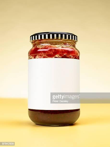 Close up of jam jar with copy space