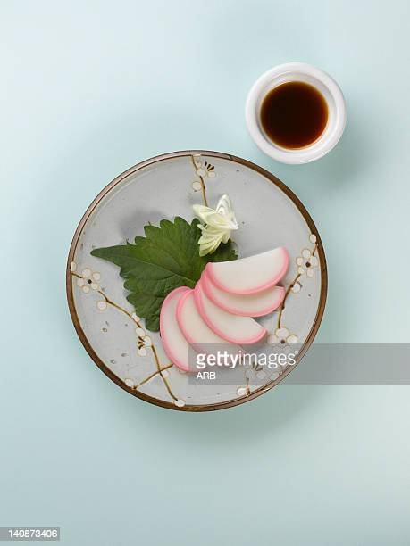 Close up of Japanese rice dessert