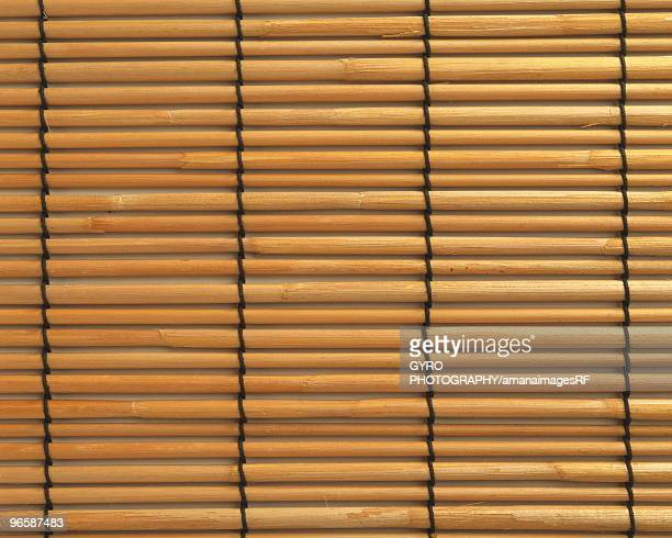 Close up of Japanese style bamboo blinds