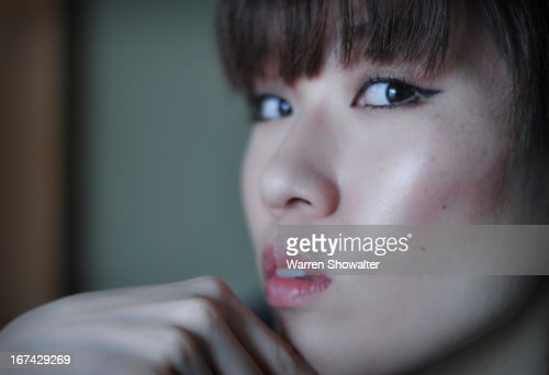 Close up of Japanese woman : Stock Photo