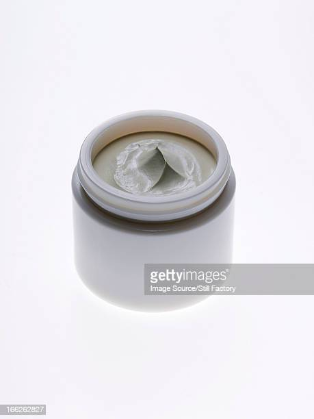 Close up of jar of lotion