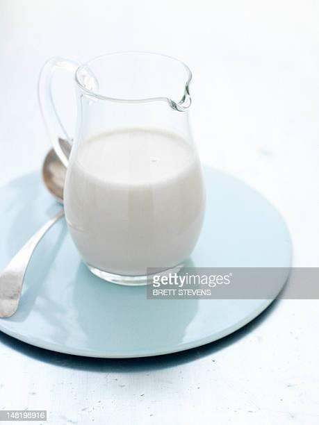 Close up of jug of milk