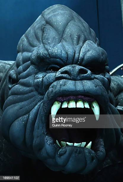 A close up of King Kong during a 'King Kong' Production media call at the Regent Theatre on May 27 2013 in Melbourne Australia