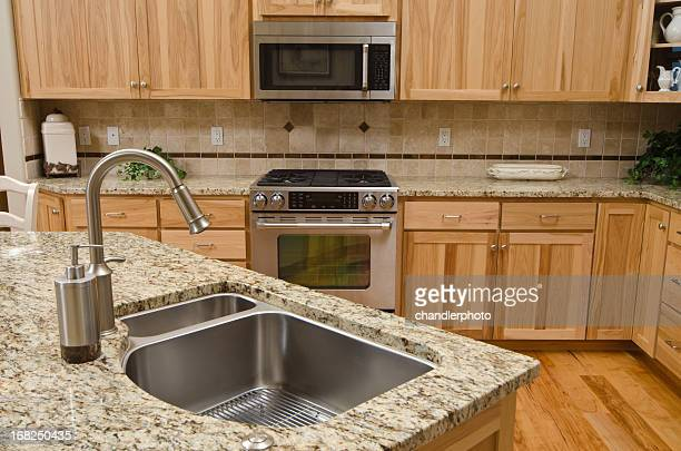 Close up of kitchen sink