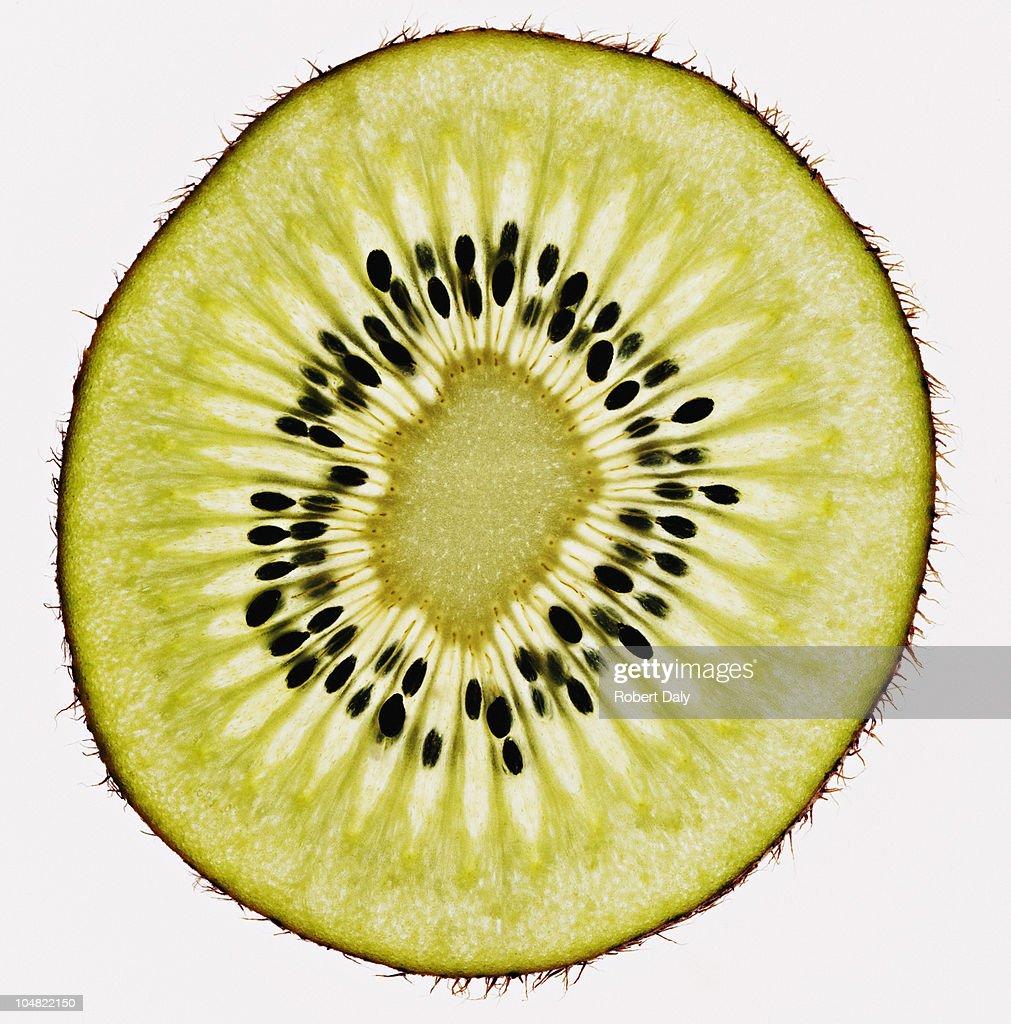 Close up of kiwi slice