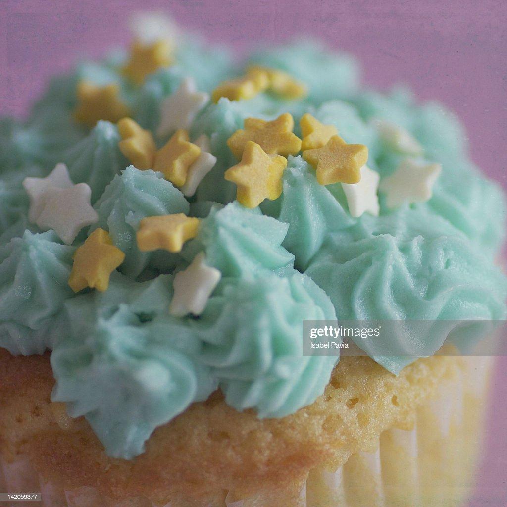 Close up of lemon cupcake : Stock Photo