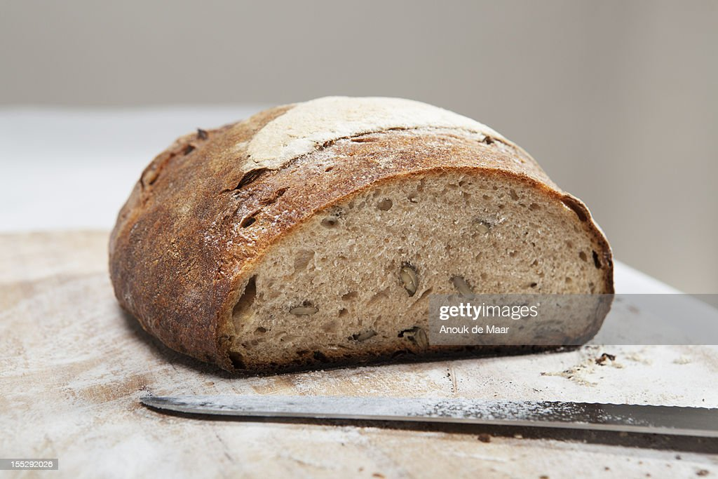 Close up of loaf of bread : Stock Photo