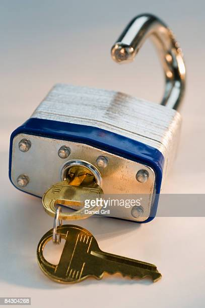 Close up of lock and keys