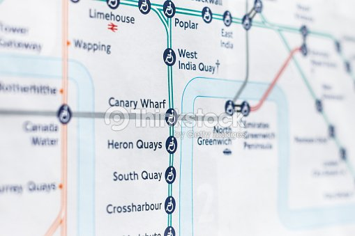 Close Up Of London Dlr On Map Stock Photo Thinkstock - London dlr map