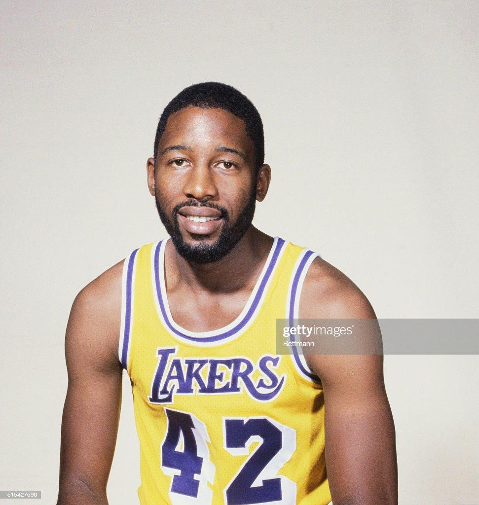 Portrait of Lakers James Worthy in Uniform