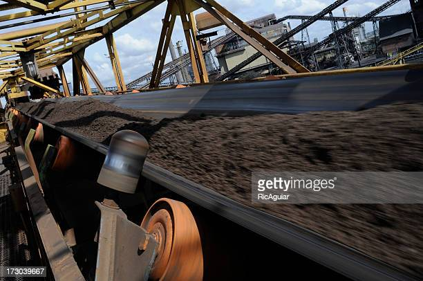 A close up of machinery in the steel industry
