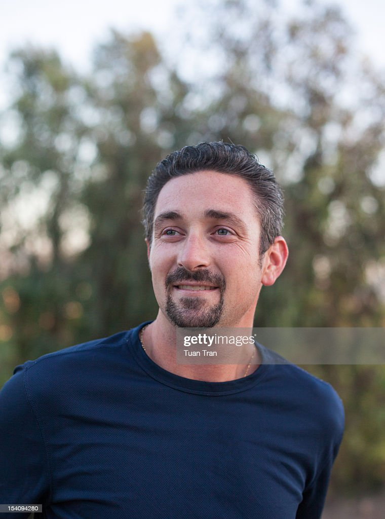 Close up of man smiling : Stock Photo