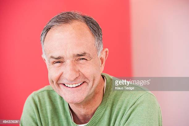 Close up of man's laughing face
