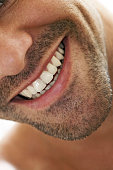 Close up of man's smile