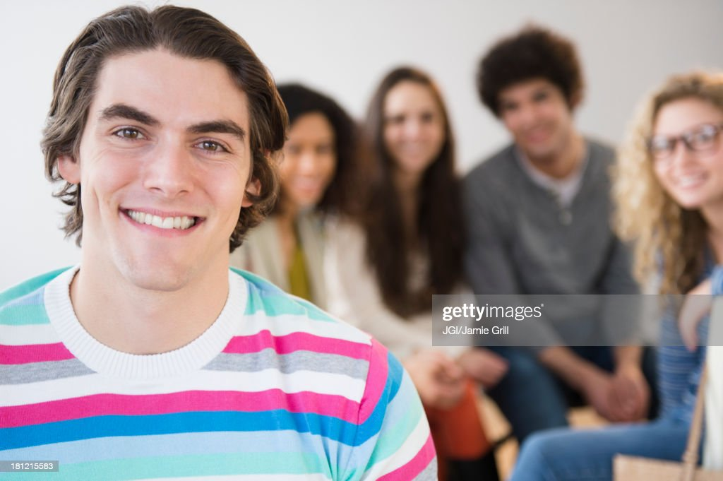 Close up of man's smiling face : Stock Photo