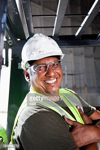Close up of manual worker