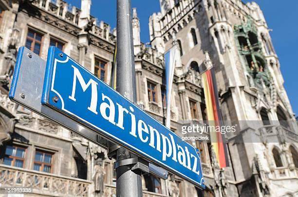 Nahaufnahme der Marienplatz sich im Zentrum von München