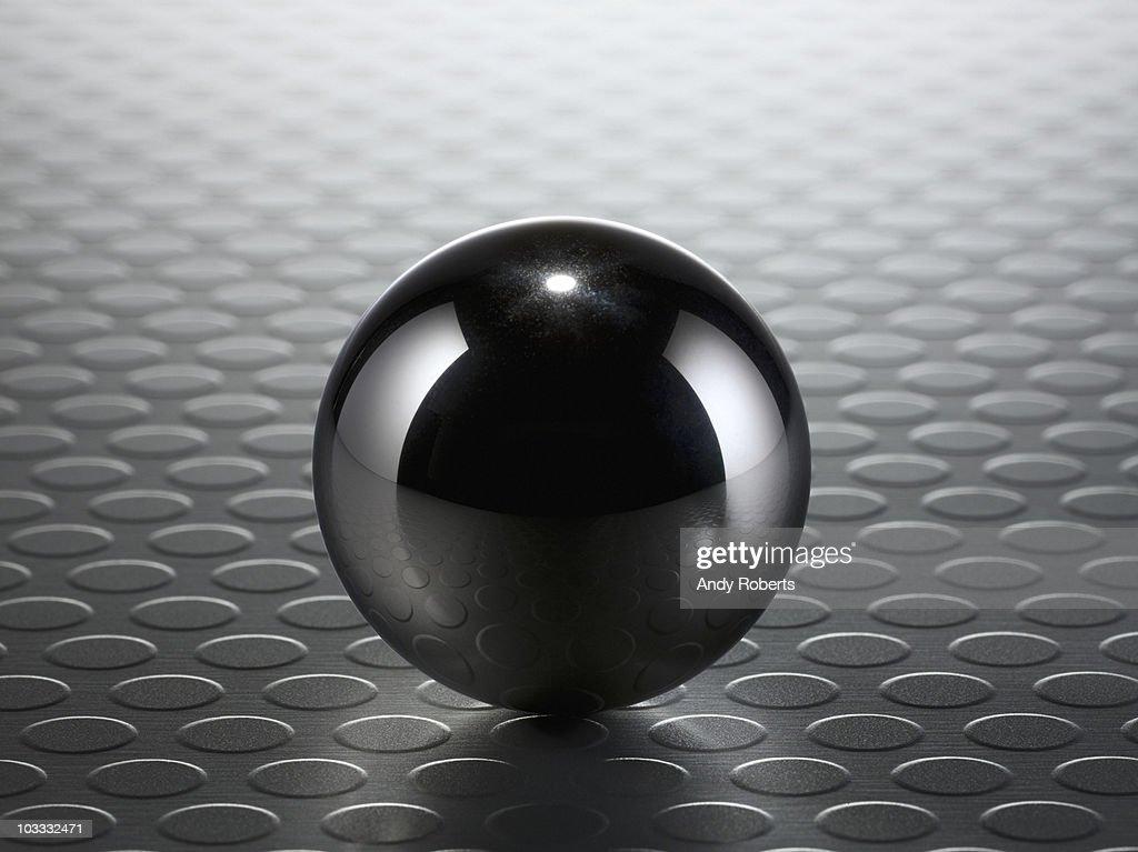 Close up of metal ball
