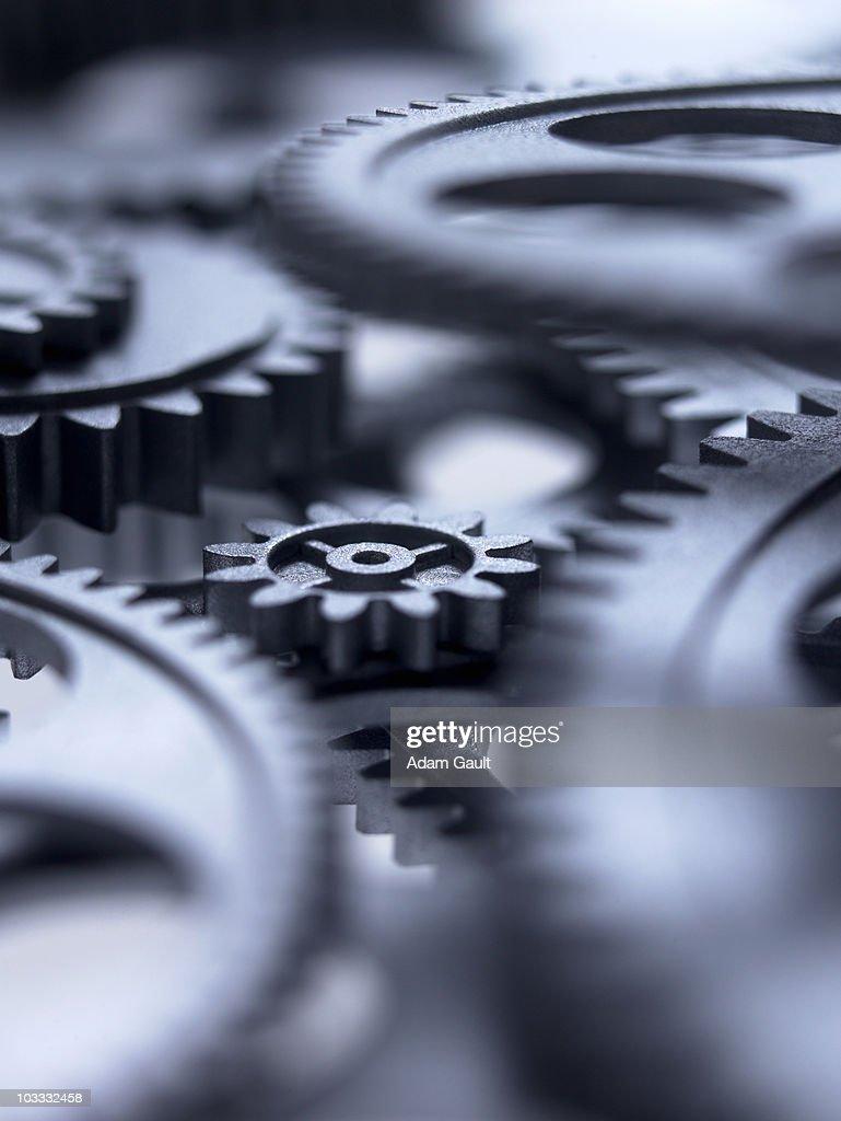 Close up of metal cogs : Stock Photo