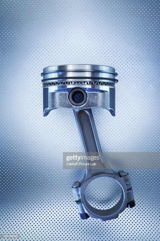 Close up of metal piston