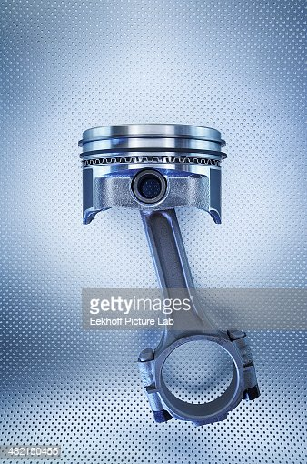 Close up of metal piston