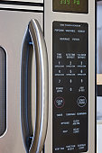Close up of microwave oven