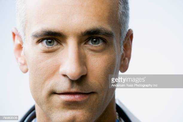 Close up of Middle Eastern man's face