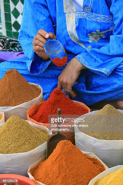 Close up of Moroccan spices