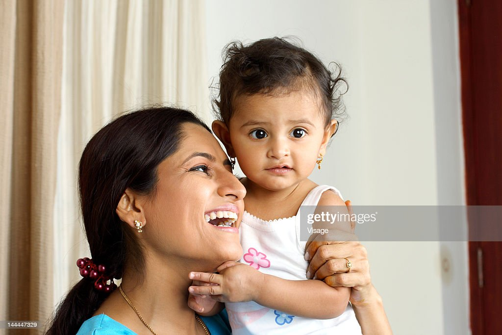 Close up of mother and child playing : Stock Photo