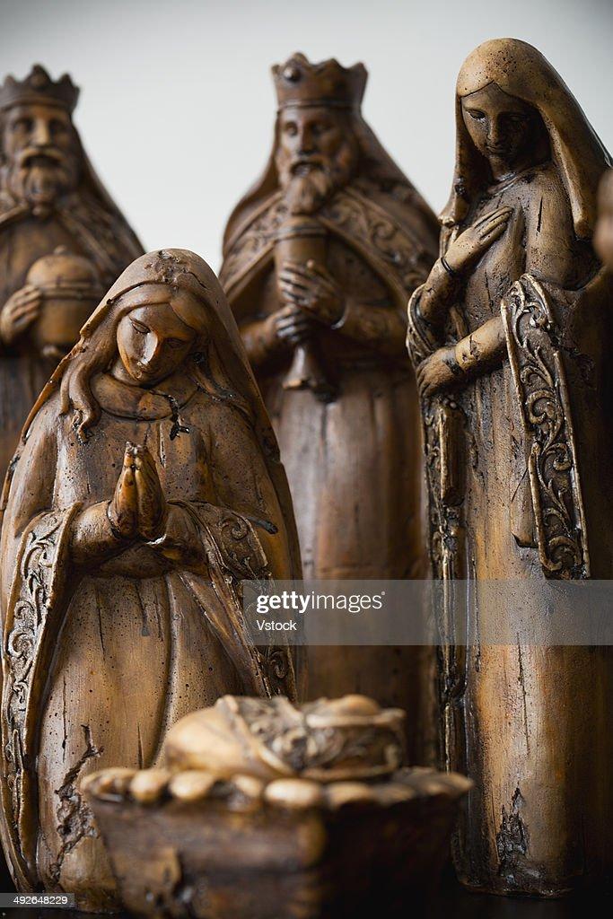 Close up of nativity scene : Stock Photo