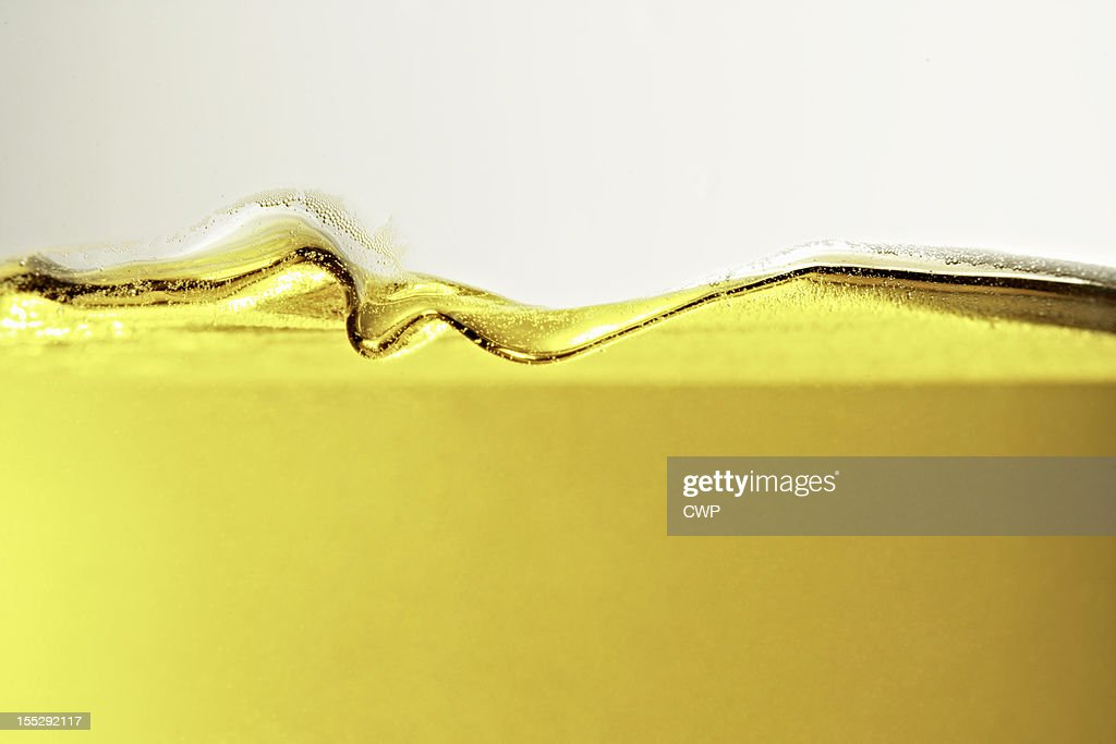 Close up of oil in glass : Stock Photo