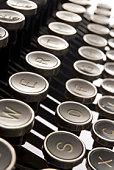 Close Up Of Old Fashioned Typewriter Keys
