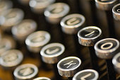 Buttons of old typing machine.Similar pictures: