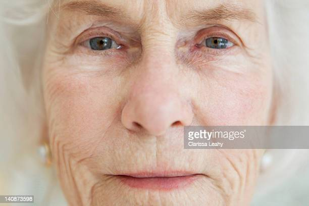 Close up of older womans face
