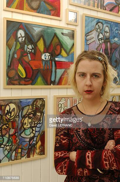 Close Up of Olivia Sechan in Paris France on December 13th 2007 Olivia Sechan art brut artist the gallery presents a ''workshop'' Marianne Olivia...