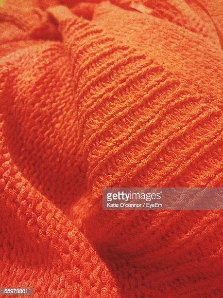 Close Up Of Orange Sweater