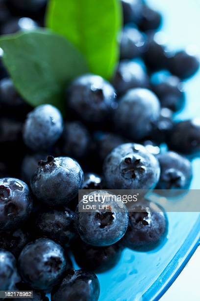 Close up of organic blueberries