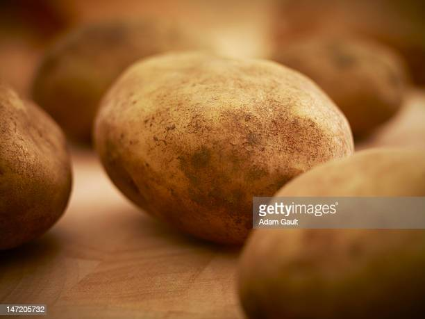 Close up of organic potatoes