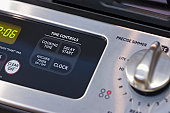 Close up of oven and stove controls